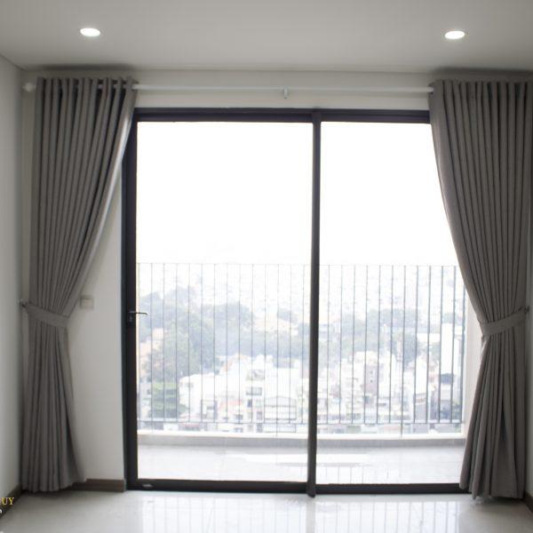 rèm vải phồng ngủ - rèm cửa căn hộ