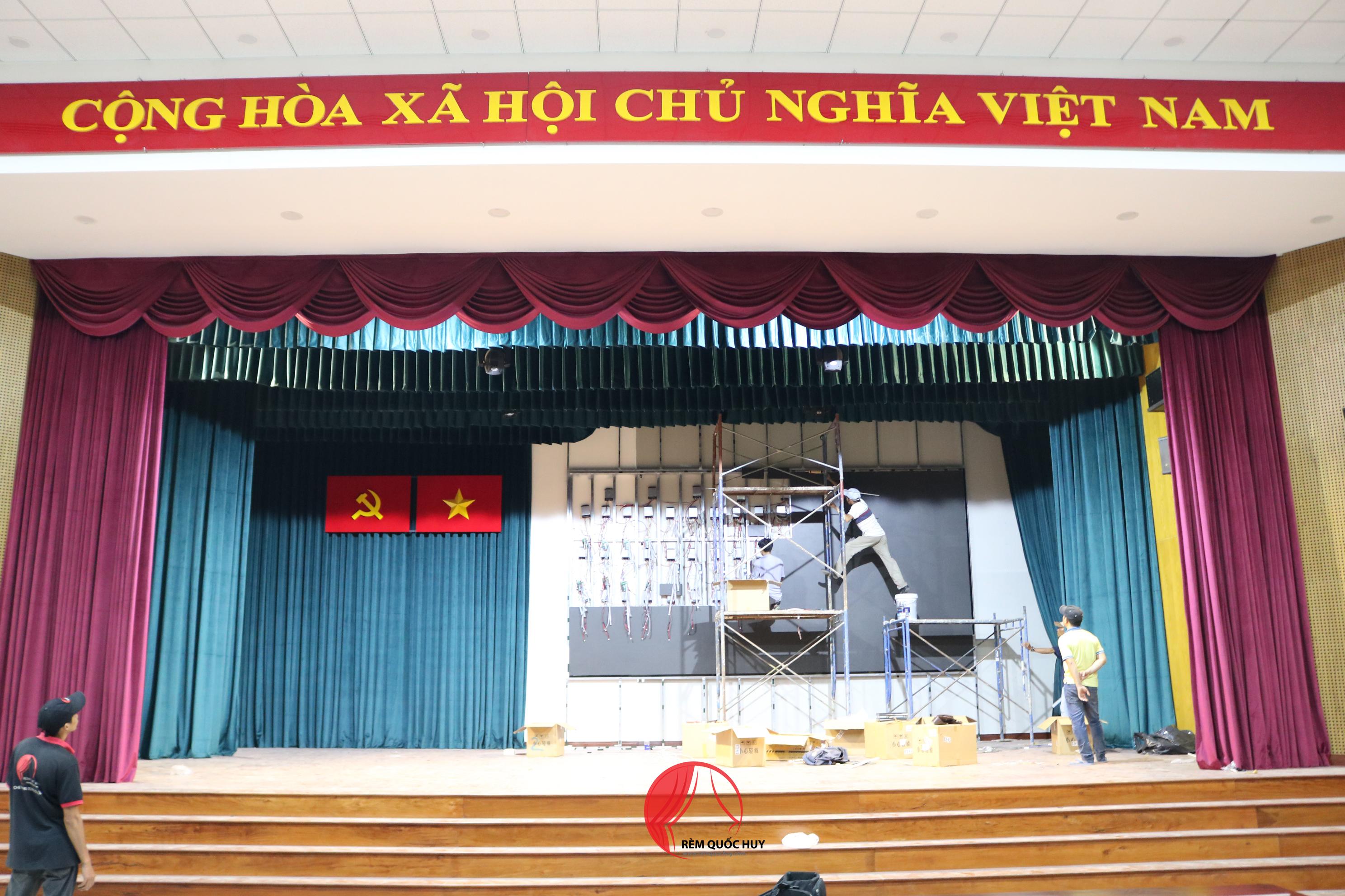 phông rèm sân khấu - rèm hội trường