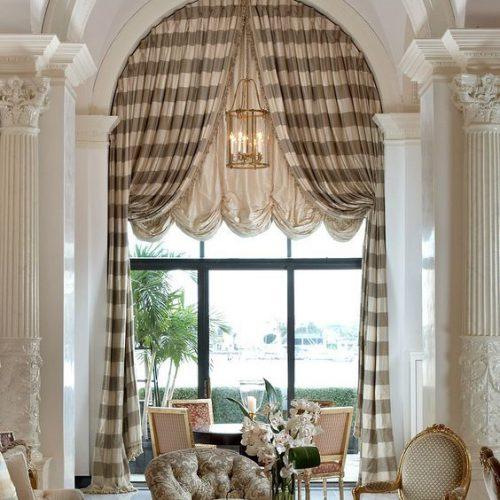 Các mẫu rèm cửa sổ mái vòm vòm đẹp theo từng phong cách nhà